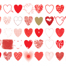 50 hearts by André Toet